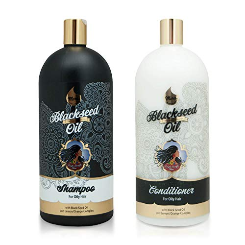 Mera Indian Amla Oil - Shampoo & Conditioner - Black Seed Oil and Lemon-Orange Complex for Oily Hair...