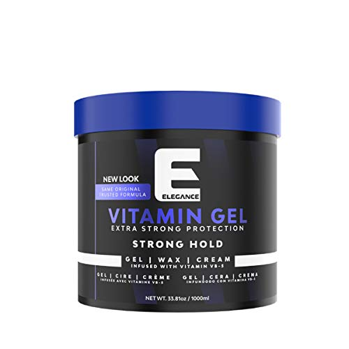 Elegance Strong Protection Hair Gel - 1000 ml, Strong Hold Hair Styling Gel