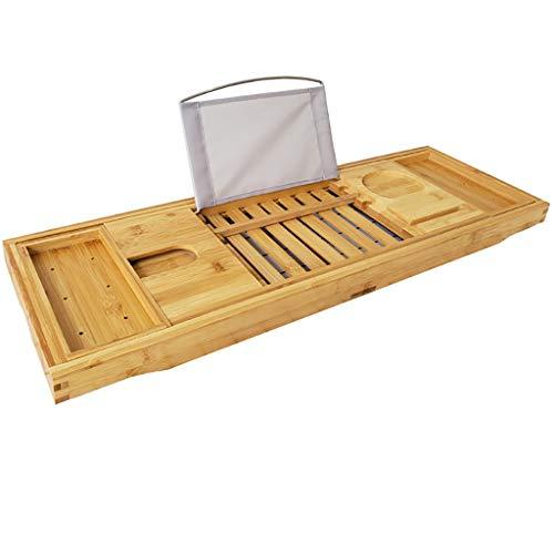 Baignoire de luxe Caddy Plateau, une ou deux personnes bain et de lit Plateau, baignoire design Détient tablette livre téléphone et un verre de vin