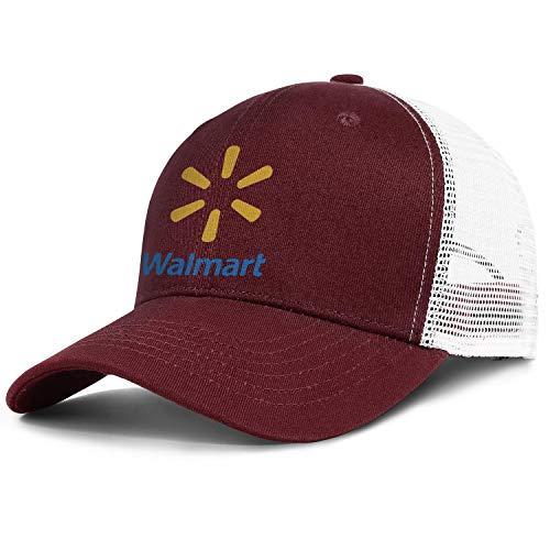 LHSPOSIFD Unisex Mens Baseball Hats Low Key Adjustable Mesh Outdoor Walmart-Supermarket-Logo-Flat Cap