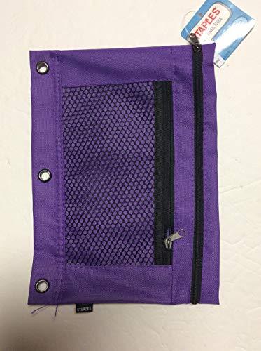 Staples 3-Ring Binder Pencil/Pen Pouch (Purple)