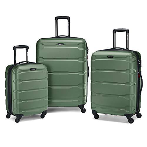 "Samsonite Omni 3 Piece Hardside Luggage Nested Spinner Set (20""/24""/28"") Army Green"