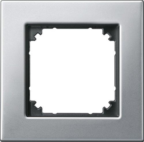 Merten 475160 M-PLAN-Metallrahmen, 1fach, Platinsilber