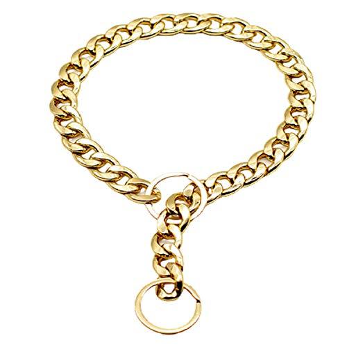 AYCPG Collar de Perro Moda Fuerte Cadena de Metal Entrenamiento de Trabajo Pesado Pitbull Collar de Mascotas para pequeños Perros Grandes Grandes lucar (Size : L)