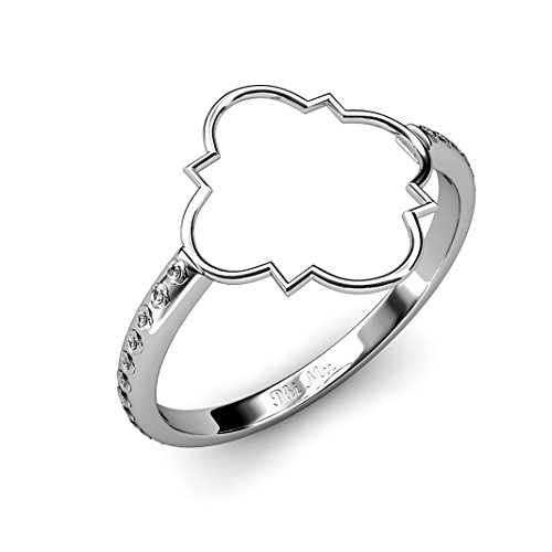 A-List Greek Quatrefoil Ring - Greeks Letters Phi Mu Script Inner Band Carnation Rings | Silver Plated Sorority Jewelry - Ideal for Women, Girls, Big and Little Sister Gifts