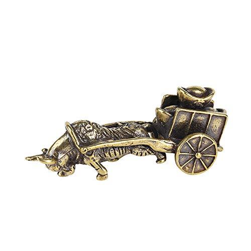 YGAKX Pequeños Adornos Retro, lingotes de Toro, Doce Zodiaco, artesanía Popular, Regalos de Escritorio, Juego de antigüedades, sólido Creativo