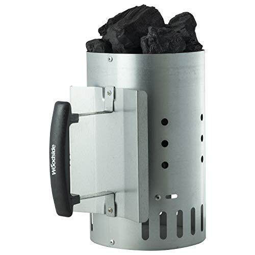 Woodside Outdoor Charcoal Chimney Starter BBQ Grill Quick Start Lighter Burner