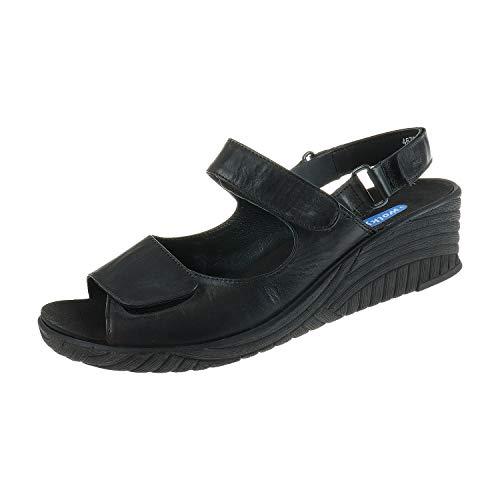 Wolky damesschoenen sandalen met wighak Ghasa Black 4675200