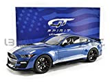 2020 Ford Mustang Shelby GT500 Ford Performance Blue with White Stripes 1/12 Model Car by GT Spirit for Acme US023