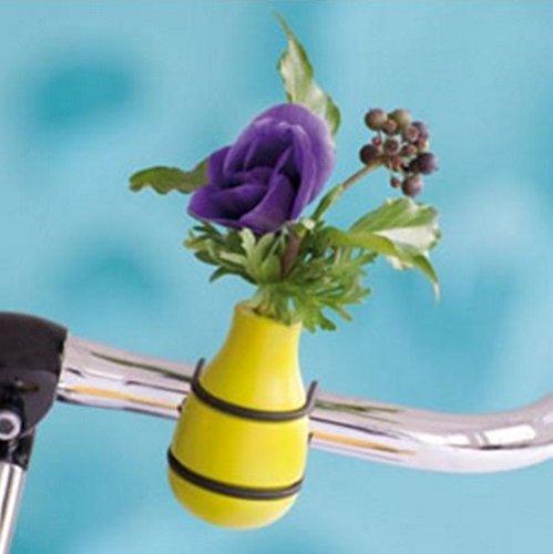 meindekoartikel Lifestyle Fahrradvase Frieda (grün) Fahrradlenker Blumenvase Lenker Vase