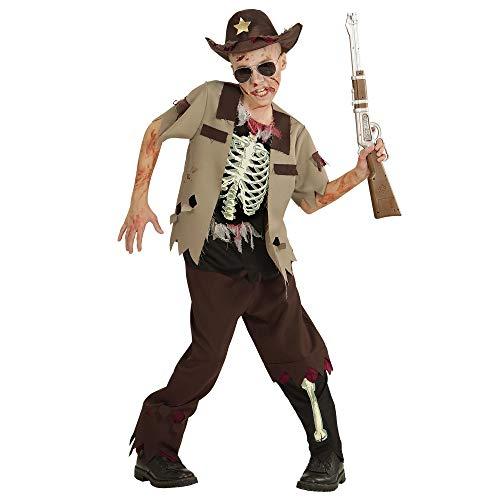 WIDMANN- Disfraz infantil de zombi Sheriff, Color marrn, 128 (07526)