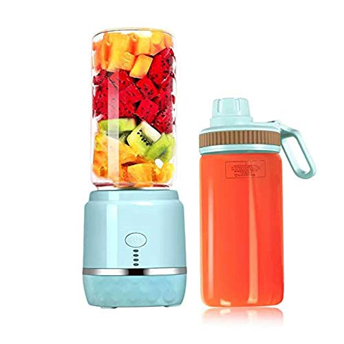 YFGQBCP Mini licuadora Personal elétrica portátil con 2 Juicer Cup USB Recargable Smart Smoothie Maker Juicer Blender
