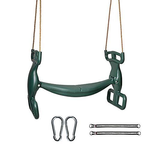 Groene kinderen Swing Seat, Swing Sets en Boom Swings met Karabijnhaak en Verbinden Touw Montage Kits