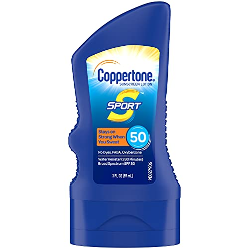Coppertone SPORT Sunscreen Lotion Broad Spectrum SPF 50 (3 Fluid Ounce) (Packaging may vary)