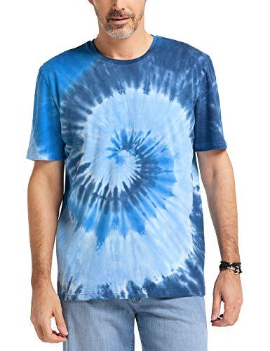 Pioneer Herren Crew Neck BATIC T-Shirt, Blau (Navy Blue 500), M