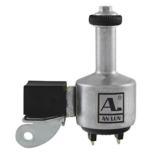 Anlun Unisex– Erwachsene Aluminium-Dynamo, mit deutschem Prüfzeichen, 6V/3W, rechts, Silber