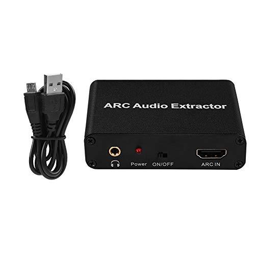 Adaptador HDMI ARC para Transferencia de señal de Audio, 3 EN 1 ARC a coxial/Conector de Audio de 3,5 mm/óptico (SPDIF) simultáneamente convertidor Extractor de Audio para Altavoces externos de TV