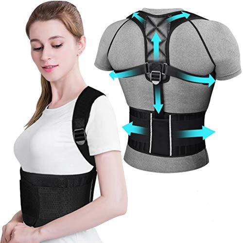 Haltungskorrektur Schulter Rücken ikeepi Verstellbar Atmungsaktiv Haltungstrainer mit Abnehmbarer Fitnessgürtel Haltungsbandage für Damen & Herren