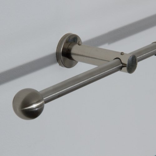 Ventanara Stilgarnitur 110 bis 200 cm Gardinenstange ausziehbar mit Endstücken Kugel inklusive Montagematerial