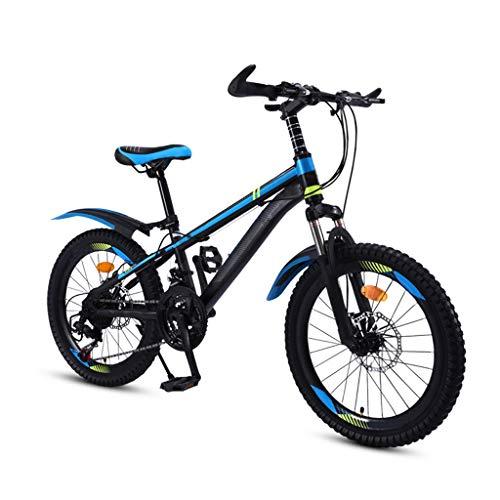 ZHEDYI 21-Speed Kids Mountain Bike Kids Bike, 20in/22in Boys and Girls Student Kids Bicycle, Variable-Speed Disc Brake Shock-Absorbing Mountain Bicycle, Kids Dirt Bike,Boys and Girls Birthday Gifts