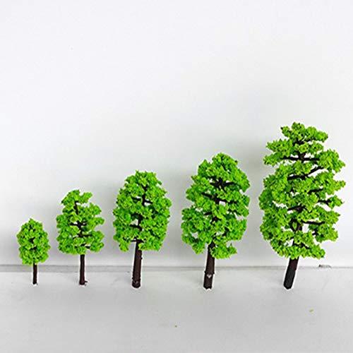 15 Piezas Árboles para Decoración de Paisaje, Árboles de Modelo Mezclados Árboles de Tren Árbol Diorama de Paisaje de Ferrocarril Árboles de Arquitectura para DIY Paisaje