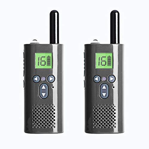 Walkie Talkies 16 Canales Mini Radio Walkie Talkie 1-3KM De Largo Alcance Walkie Talkie Juguetes 1500Mah USB Para El Restaurante Supermercado Escuela Adultos Y Niños Pueden Utilizar Navidad,Plata