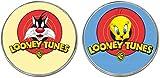 MasTazas Silvestre Sylvester Piolin Tweety Looney Tunes 2 Imanes Metalicos Circulares 5,4 cm