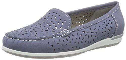ara Monterey, Damen Mokassin, Blau (jeans/silber 08), 38 EU (5 UK)