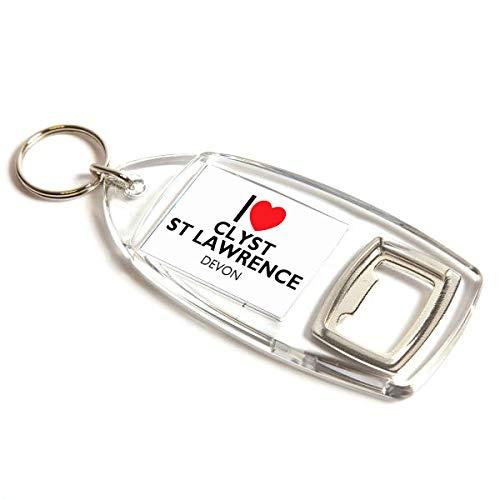 Flaschenöffner – I Love Clyst St Lawrence – Devon