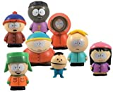 A G I South Park Collectible Figurines Set of 4 Pcs (1 Inch Tall Size) Figures …Cartman, Kenny, Kyle and Stan.