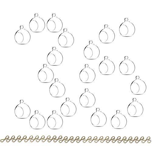Hängende Teelicht Kerze Hoder 30 Stück Mini Glas LED Teelichthalter, 6cm Durchmesser, Glas Terrarium Globen für Hochzeitsfeier Baum Dekoration Home Decor