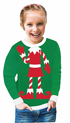 Forum Child's Elf Ugly Christmas Sweater, One Color, Large