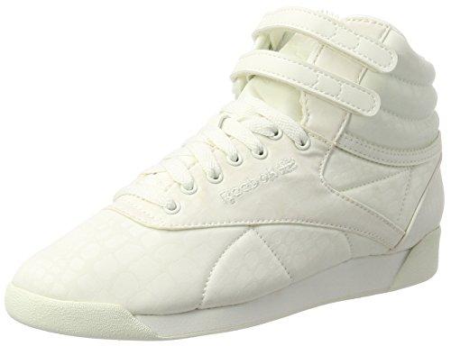 Reebok Damen Freestyle Hi LUX TXT Hohe Sneaker, Weiß (Chalk/Chalk), 40 EU