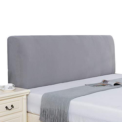 Zoey's store Funda elástica para cabecero de cama, funda para respaldo, estilo nórdico, todo incluido, para cama, funda protectora de madera, cuero y polvo, curvada (# 12, 1,5 m x 0,8 m)