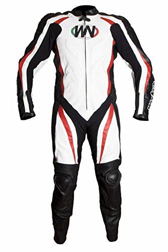 WinNet tuta intera racing da moto in pelle