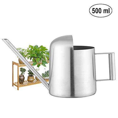 Fdit Arrosoir Pot d'arrosage en Acier Inoxydable à Long Bouche pour Plantes Fleurs d'intérieur Patio et Jardins Bureau en Plein air(500ML)