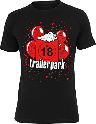 Trailerpark T-Shirt Ab 18, Farbe:schwarz, Größe:M