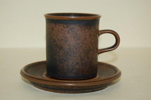 Kaffeetasse 2tlg. Ruska Procope Arabia Finland