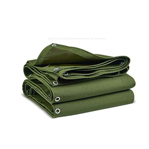 LIUPENGWEI Tarpaulin 2x1.5m [620 G / M2], Dekzeil Met Oogjes For Tuinmeubelen, Zwembad, Auto, Vrachtwagen, Waterdicht En Scheurbestendig Beschermingszeil zeildoekzak (Color : Green, Size : 6x3m)
