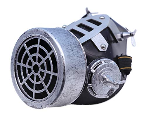 Arsimus Steampunk Gas Mask with 4 Fans (Silver)