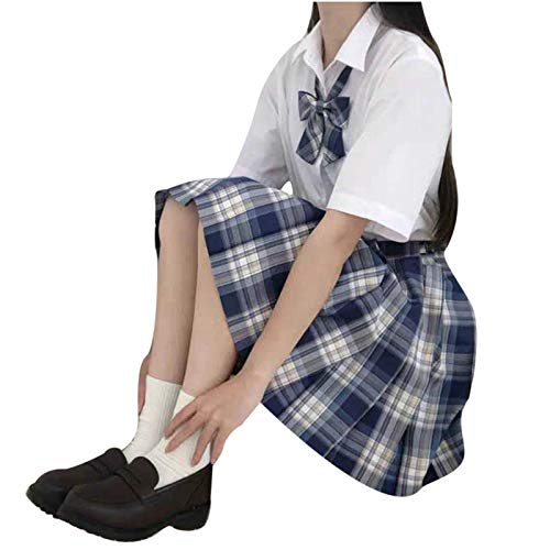 Falda elegante para mujer, minicampanillas, falda plisada, falda corta para fiestas, nias, cintura alta X1-azul 36