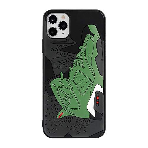 3D Hypebeast Green 6's - Funda protectora para teléfono con diseño de zapatos con agarre suave, diseño oficial con textura y absorción de golpes, compatible con iPhone 12 Pro Max