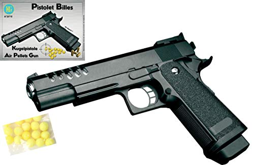 KOSxBO® Set: Erbsenpistole Kinder Fasching Pistole Elite Edition mit Munition zum Verkleiden als Polizist, Agent, Spion oder Mafia Kostüm