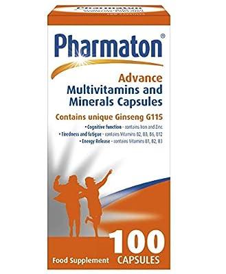 Pharmaton Advance Multivitamin and Mineral Capsules, 100 Capsules