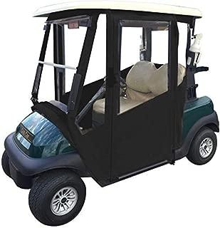 Doorworks Hinged Door Golf Cart Enclosures – Club Car Tempo Marine Vinyl Cart Cover, Swinging Hard Doors, 4 Sided, Zippered Drivable Golf Cart Cover Fits Golf Bags, Utility Box, Rear Facing Seat