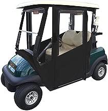 Doorworks Hinged Door Golf Cart Enclosures – EZGO RXV Marine Vinyl Cart Cover, Swinging Hard Doors, 4 Sided, Zippered Drivable Golf Cart Cover Fits Golf Bags, Utility Box, Rear Facing Seat