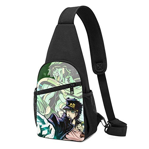 JoJo's Bizarre Adventure - Bolsa de pecho para hombre y mujer, mochila deportiva para senderismo, ciclismo, mochila de hombro con múltiples bolsillos
