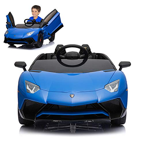 12V Electric Ride On Car with 2.4G Remote Control, 2019 Latest Model Aventador SV Roadster LP750-4...