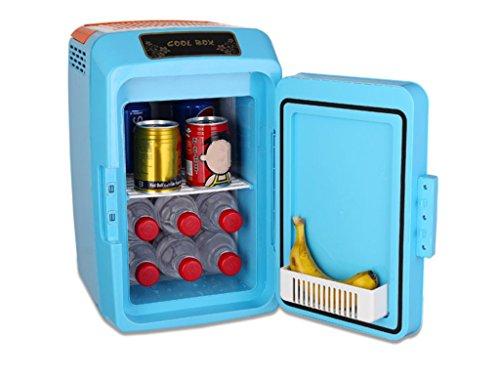 SHISHANG Réfrigérateur de voiture/12L/réfrigération, Chauffage/Voiture et Maison Double Usage (12V/220V)/dortoir des étudiants, économie d'énergie, Bleu