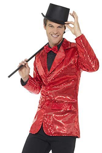 """Smiffys Chaqueta de lentejuelas, rojo, para hombre, XL - Tamaño 46""""-48"""" , color/modelo surtido"""